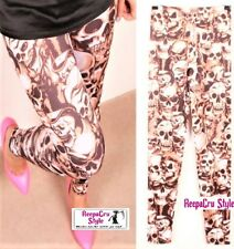B13 Popular Ladies Teen  **SKULLS** Hot Punk Style Fashion Winter Legging Pants