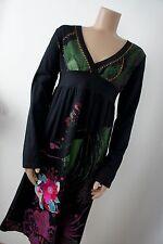 Desigual * ocio vestido vestido * base negro * gescheckt bordado * talla XL