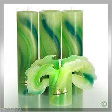 Lotuskerze 28 cm  Aquarell grün(VPE: 3 Stück)