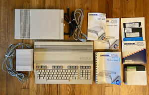 Commodore 128 PC - 1571 Disk Drive - Power Cords - System Disks - Games - Guide