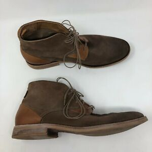 Levis Ankle Boots Mens Size 11 Brown Suede Leather 2 Tone EUC