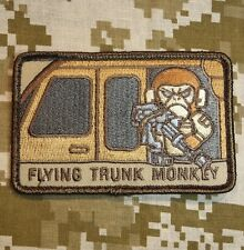 FLYING TRUNK MONKEY US ARMY USA MILITARY ISAF DESERT HOOK & LOOP PATCH