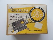 Vintage H&A Wallace Philatector electric watermark detector in original box.