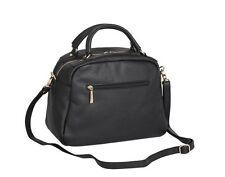 Domo Premium Leather Two Handle Loaf Handbag - Black Bag - RRP £369 - Box64 63 A