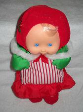 #7451 New No Box Displayed Vintage Fisher Price Puffalump Holiday Caroler Plush