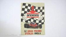 ADESIVO AUTO F1 / Old Sticker 1980 51° GRAN PREMIO IMOLA (cm 8 x 11) AREXONS