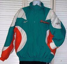Miami Dalphins  Authentic NFL Reebok Retro Jacket Sz XL Football Green Polyester