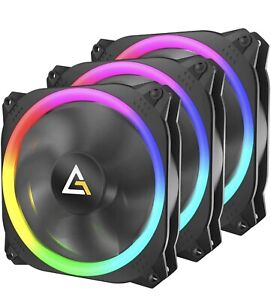 Antec 120mm RGB Case Fan - 4pin - Spark Series - High Performance - 3 Pack
