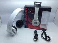 New Bluetooth Stereo Headset At-Bt802 Over The Head Universal White
