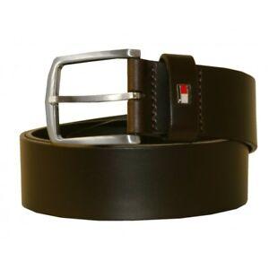 Tommy Hilfiger New Denton Men's Leather Belt, Chocolate Brown