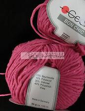 (89 €/kg): 400 Gramm Gedifra  BON CHIC mit Glanzfaden, Fb.1545 pink #1363