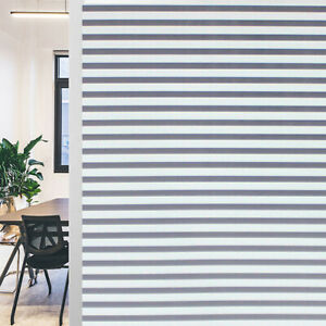 Striped Window Decal Privacy Film Glass Film Window Tint for Home Kitchen OffiLD