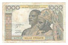 New listing French West Africa - Ivory Coast - 1000 Francs 1978