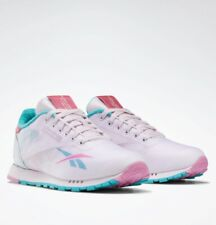 Reebok Classic A TI Leather kid's sneakers shoes unisex (2Y-2.5Y) pink/emerald