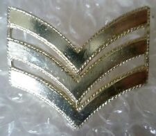Badge- Sergeant Chevron Rank Badge 3 Bar (Staybrite) 2 Lugs