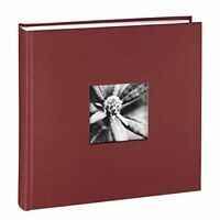 Hama Fine Art Jumbo Photo Album, 30 x 30 cm, 400 Photos - Burgundy