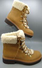Brand New Sz 7.5 Tommy Hilfiger Womens Ron 2 Leather Faux Fur Work Boots Tan