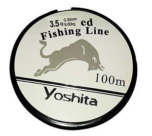 100M CLEAR BRAIDED NYLON FISHING LINE 3.5 8.60KG/19LBS FISH SEA RIVER ROD SUMMER