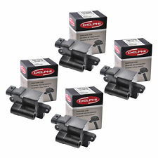 New Set of 4 Delphi Ignition Coil GN10298 For C1208 D581 UF271 Cadillac