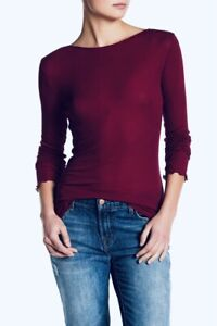 FREE PEOPLE INTIMATELY Eyes Wide Open Tee, Raspberry, US Size XS, NWOT [RRP $55]
