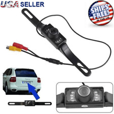 Car Backup Camera Reverse Rear View Parking Night Vision Waterproof CMOS 7 LED