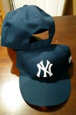 """New Adult Twill MLB New York Yankees Navy Blue/White Home """"NY"""" Cap Hat -PMJS"""