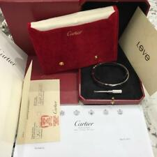 Cartier Love Bangle Bracelet White Gold Box Papers Bag Receipts Size 20