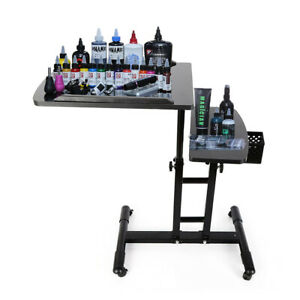 Mobile Tattoo Work Station Arm Rest Stand Desk Table Workbench Tray Portable USA