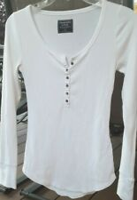 Abercrombie and Fitch Women's Long Sleeve Top Size XS White