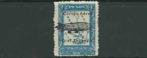 PARAGUAY 1931 AIRMAIL with GRAF ZEPPELIN overprint revalued (Sc C54) MLH