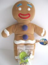 "Shrek 2 2003 GINGERBREAD MAN 11"" plush doll toy figure with McDonald's toys NWT"