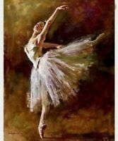 New modern art hand-paint Oil Painting ballet on canvas decor wall #159 No Frame