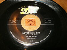 RICKY PAGE - NEVER LIKE THIS - TOY TELEPHONE  /  LISTEN - GIRL POPCORN