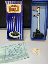 HORNBY DUBLO ED2 DOUBLE ARM SIGNAL & BOX VINTAGE OO ELECTRICAL OPERATED WORKING