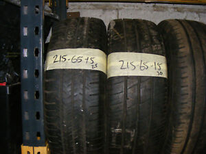 215 65 15 PART WORN VAN TYRES FITTED AND BALANCED