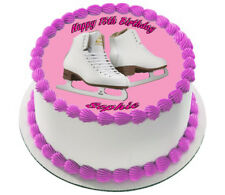 ICE SKATING  REAL EDIBLE ICING  CAKE TOPPER PARTY IMAGE FROSTING SHEET