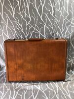 Vintage Shwayder Bros. Samsonite Hard Shell Suitcase Style 4621 Brown (no Key)