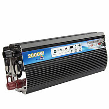 Car Power Inverter 2000W Power DC12V to AC 220V-240V Converter USB Port Tools