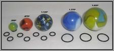 LOT OF 10 SMALL DISPLAY RING STANDS + BONUS! - MODERN/VINTAGE MARBLES Gold Lutz
