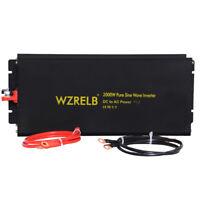 2000W Pure Sine Wave Inverter 12/24V to 120/220V DC to AC Power Inverter Convert