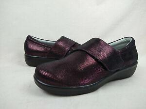 Alegria Lauryn Wine Weave Printed Slip-On Shoes Womens Sz 41 W EU 10.5 - 11 W US