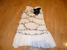 IMMACULATE GIRLS CREAM/BLACK JAKIOO DRESS AGE 9
