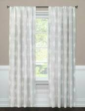 "1 Threshold Clipped Sheer Curtain Panel Radiant Gray Kuba Window  84"" New"
