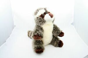 De.Car Baby Boy or Girl 10in Plush Stuffed Animal Toy Raccoon