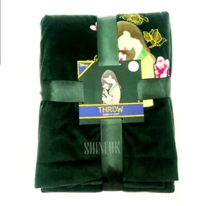 Disney Primark MULAN fleece Throw Green Velvet blanket Home decor NEW LTD EDN