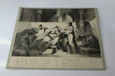 """Antique Rare Dominique Vivant Denon (1747-1825) Etching """"The old pimp"""" FREE SHIP"""