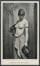 Nonnenbruch Antike Frau Akt Erotik Orient Hellas Poesie Jugendstil Romantik 1890