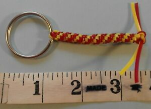 Key Holder Ring Fob Red and Yellow 256835