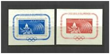 Romania 1960 Olympic Torch Perf & Imperf Stamp Mini Sheets Sc.1337/38 MUH 15-8