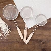 Kitchen Stainless Steel Fine Mesh Oil Flour Sifter Strainer Colander Sieve  G